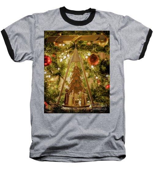 German Christmas Pyramid Baseball T-Shirt