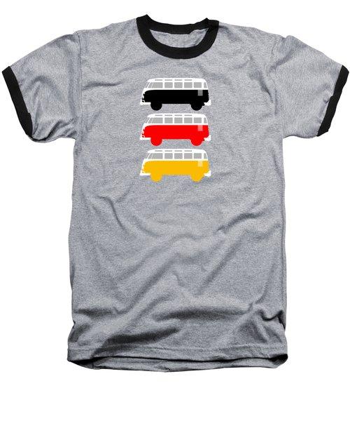 German Icon - Vw T1 Samba Baseball T-Shirt by Mark Rogan