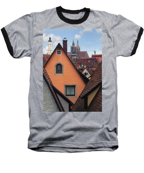 German Rooftops Baseball T-Shirt