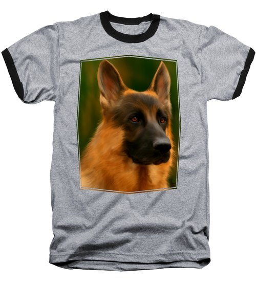 German Shepherd Baseball T-Shirt
