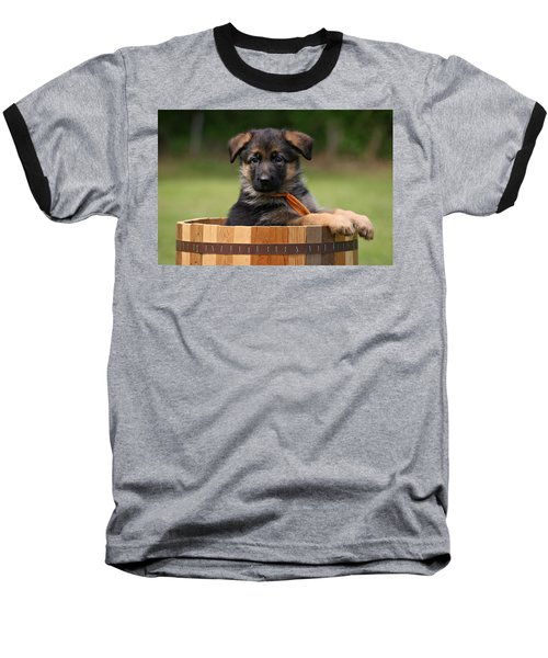German Shepherd Puppy In Planter Baseball T-Shirt