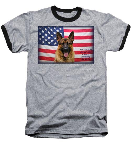 German Shepherd - U.s.a. - Text Baseball T-Shirt by Sandy Keeton