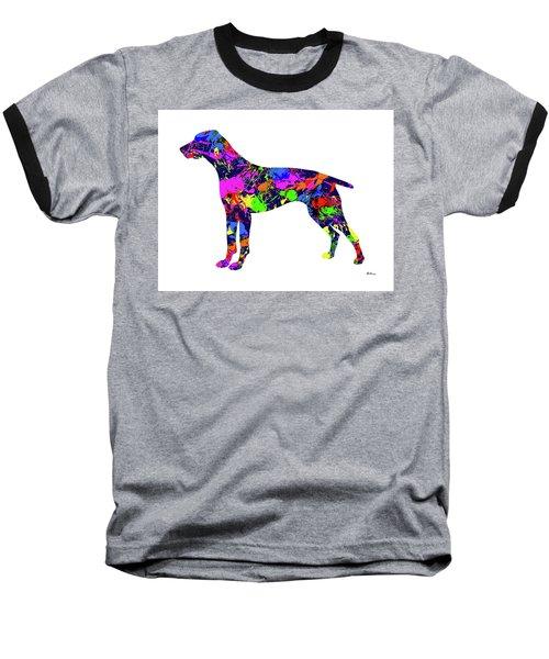 German Shorthaired Pointer Paint Splatter Baseball T-Shirt