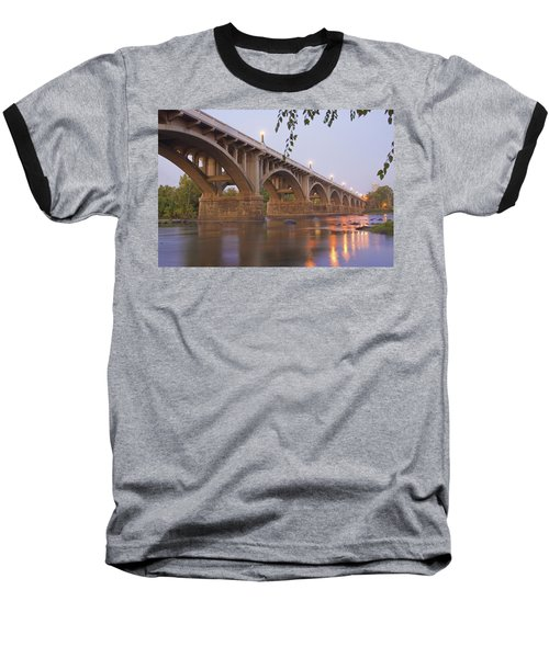 Gervais Bridge Baseball T-Shirt by Steven Richardson