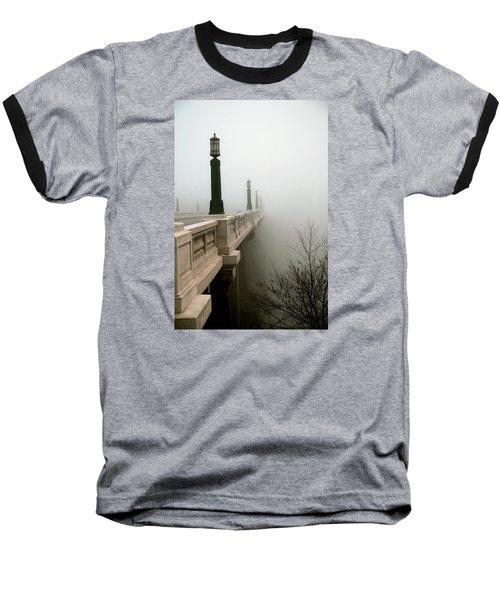 Gervais Street Bridge Baseball T-Shirt by Skip Willits