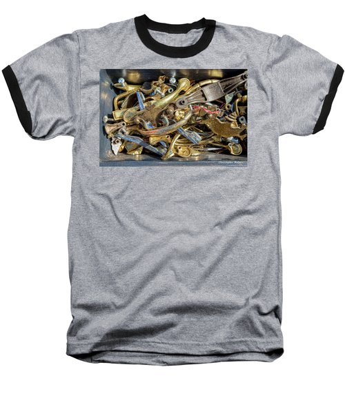 Baseball T-Shirt featuring the photograph Get A Handle On It by Christopher Holmes