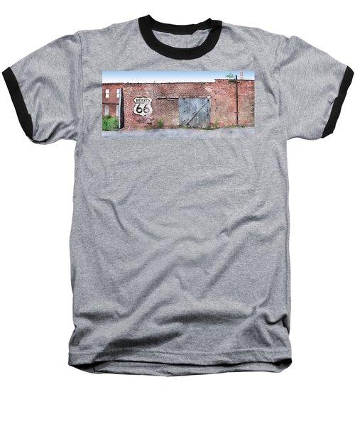 Baseball T-Shirt featuring the digital art Get Your Kicks by Sandy MacGowan