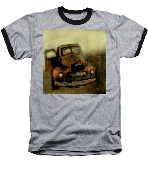 Baseball T-Shirt featuring the painting Getaway Truck by Jim Vance
