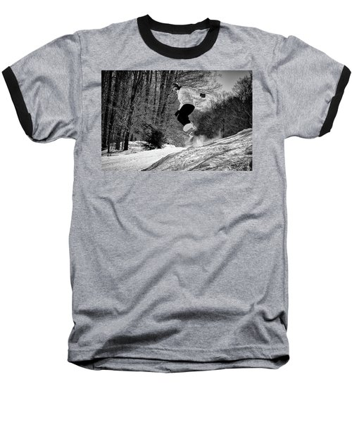 Baseball T-Shirt featuring the photograph Getting Air On The Snowboard by David Patterson