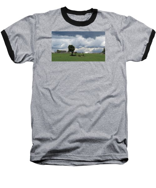 Baseball T-Shirt featuring the photograph Getting Stormy by Jeanette Oberholtzer