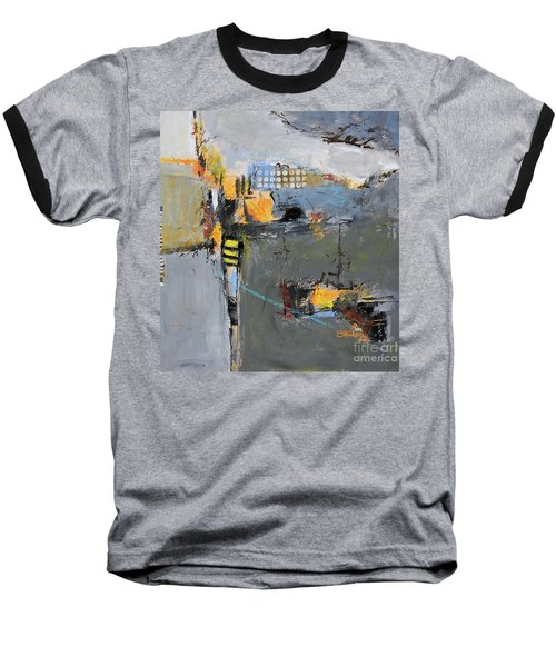 Baseball T-Shirt featuring the painting Getting There by Ron Stephens