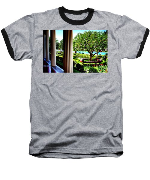 Baseball T-Shirt featuring the photograph Getty Villa Peristyle Garden by Joseph Hollingsworth