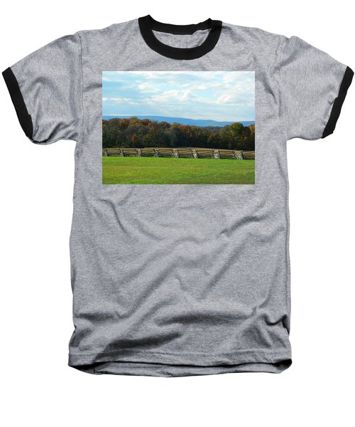 Baseball T-Shirt featuring the photograph Gettysburg Battlefield And Beyond by Emmy Marie Vickers