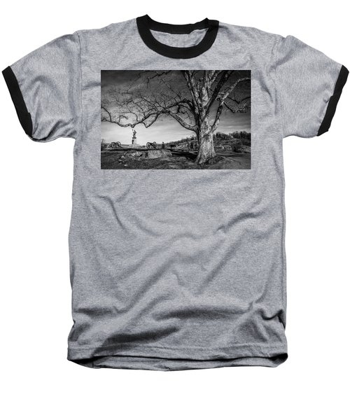 Gettysburg Below Little Round Top Baseball T-Shirt