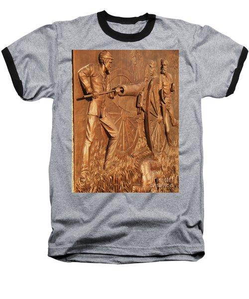 Gettysburg Bronze Relief Baseball T-Shirt