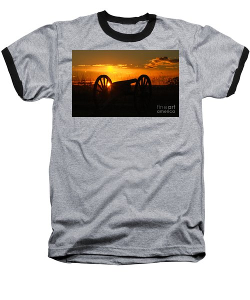 Gettysburg Cannon Sunset Baseball T-Shirt