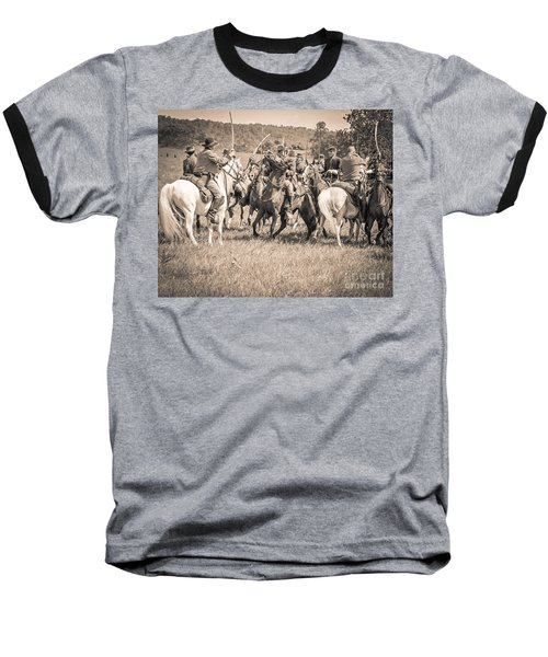 Gettysburg Cavalry Battle 7970s  Baseball T-Shirt