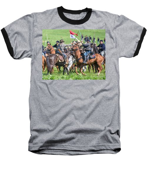 Gettysburg Cavalry Battle 8021c  Baseball T-Shirt
