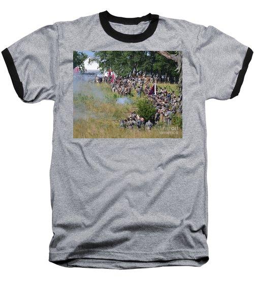 Gettysburg Confederate Infantry 8825c Baseball T-Shirt