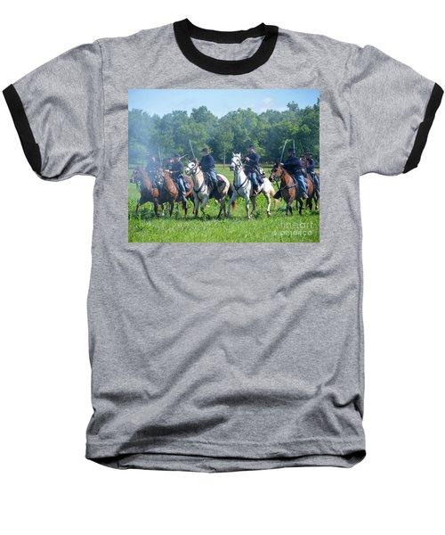 Gettysburg  Union Cavalry Baseball T-Shirt