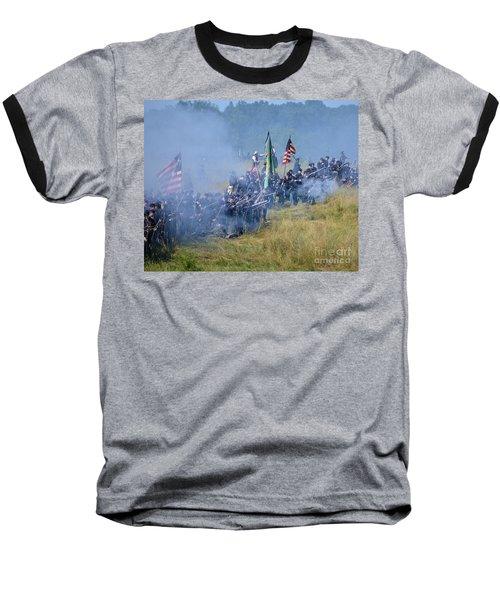 Gettysburg Union Infantry 8947c Baseball T-Shirt