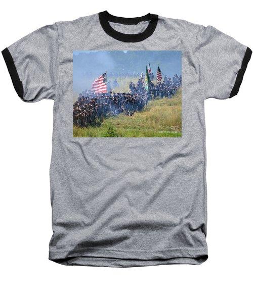 Gettysburg Union Infantry 8948c Baseball T-Shirt