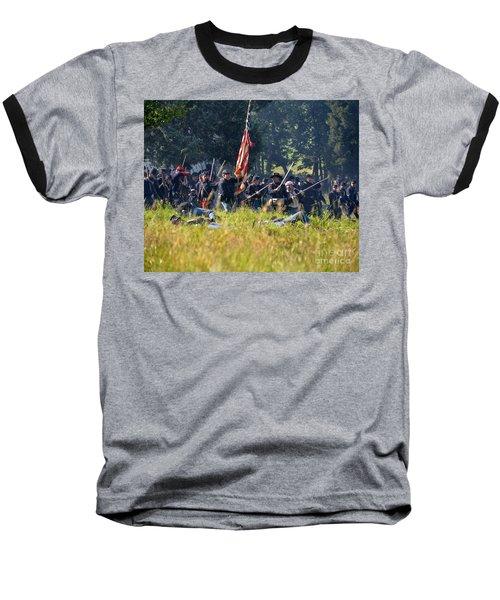 Gettysburg Union Infantry 9348c Baseball T-Shirt