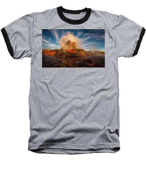 Geyser Steams At Dawn Baseball T-Shirt