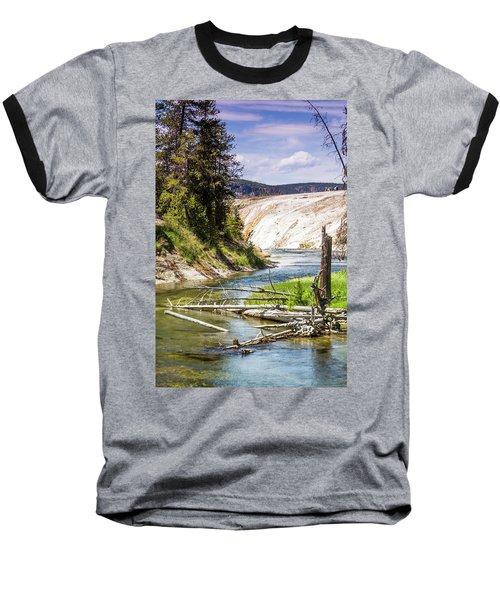Geyser Stream Baseball T-Shirt by Dawn Romine