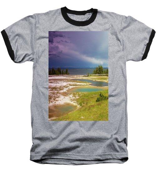 Geysers Pools Baseball T-Shirt by Dawn Romine