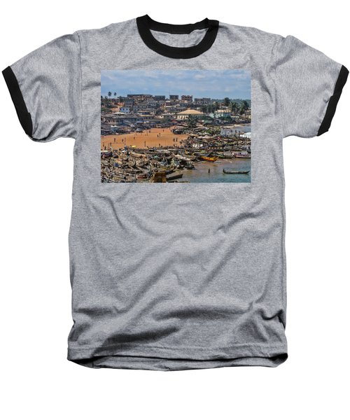Ghana Africa Baseball T-Shirt by David Gleeson
