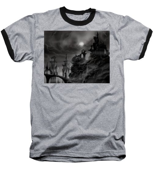 Ghost Castle Baseball T-Shirt