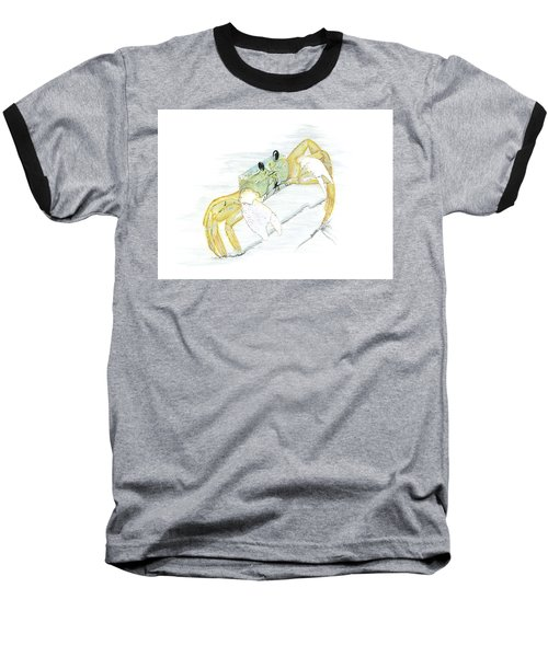 Ghost Crab Drawing The Line Baseball T-Shirt