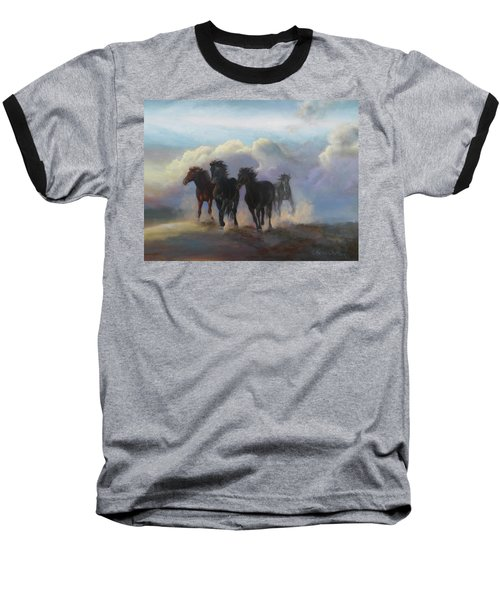 Ghost Horses Baseball T-Shirt