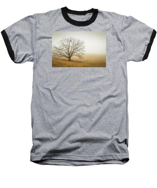 Tree In Fog - Blue Ridge Parkway Baseball T-Shirt