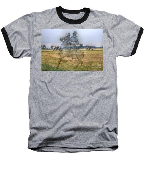 Ghost Of Gettysburg Baseball T-Shirt by Randy Steele