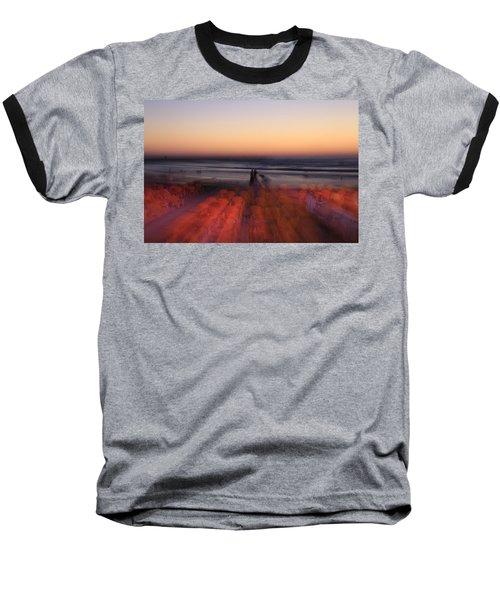 Ghost On A Beach. Baseball T-Shirt