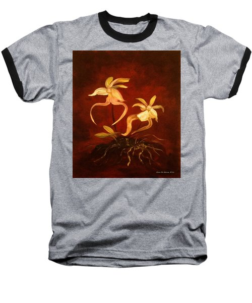 Ghost Orchids Baseball T-Shirt