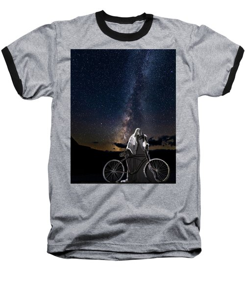 Ghost Rider Under The Milky Way. Baseball T-Shirt