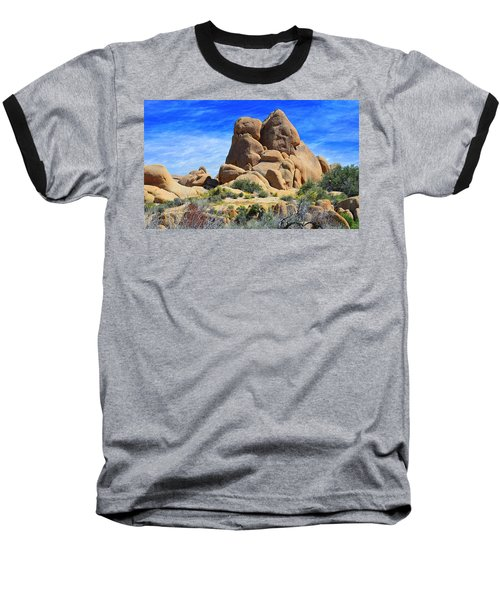 Ghost Rock - Joshua Tree National Park Baseball T-Shirt by Glenn McCarthy Art and Photography