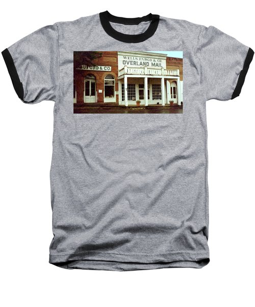 Baseball T-Shirt featuring the digital art Ghost Town by Gary Baird