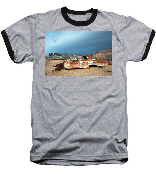 Baseball T-Shirt featuring the photograph Ghost Town Old Car by Catherine Lau