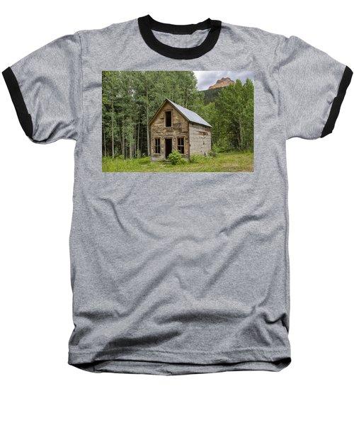 Ghost Town Schoolhouse Baseball T-Shirt