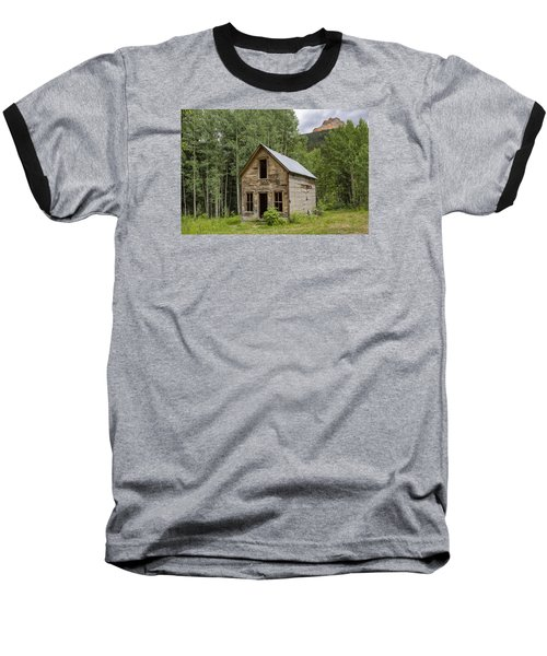 Ghost Town Schoolhouse Baseball T-Shirt