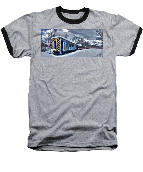 Ghost Train In An Existential Storm Baseball T-Shirt