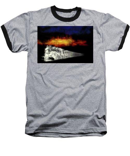 Baseball T-Shirt featuring the digital art Ghost Train by John Haldane