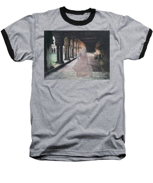 Baseball T-Shirt featuring the mixed media Ghostly Adventures by Desiree Paquette