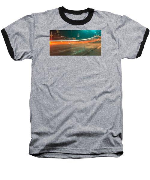 Ghostly Cars Baseball T-Shirt by John Rossman