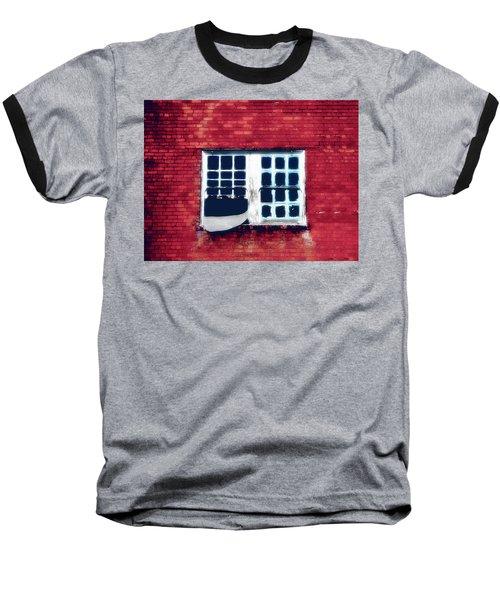 Ghostly Window Baseball T-Shirt