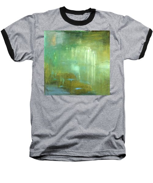 Baseball T-Shirt featuring the painting Ghosts In The Water by Michal Mitak Mahgerefteh